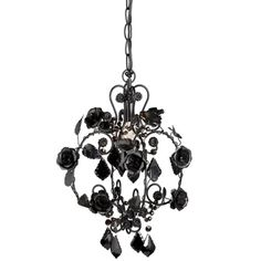 Midwest Small Black Rose Beaded Chandelier for sale online Wrought Iron Chandeliers, Rustic Chandelier, Black Chandelier, Beaded Chandelier, Chandelier Lamp, Monster High Bedroom, Painted Cottage, Pink Bedding, Teen Bedding