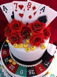 This poker themed cake is amazing!