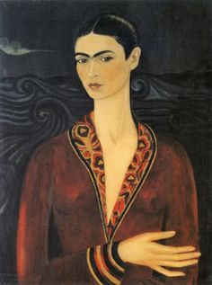 Hand painted reproduction of Self Portrait in a Velvet Dress This masterpiece was painted originally by Frida Kahlo. Museum quality handmade oil painting reproduction oil painting on canvas. Frida Y Diego Rivera, Frida E Diego, Frida Art, Frida Kahlo Portraits, Frida Kahlo Artwork, Kahlo Paintings, Oil Paintings, Kunst Poster, Mexican Artists