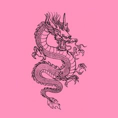 Tattoo Sketches, Tattoo Drawings, Body Art Tattoos, Small Tattoos, Small Dragon Tattoos, Chinese Dragon Tattoos, Tatoos, Bedroom Wall Collage, Photo Wall Collage