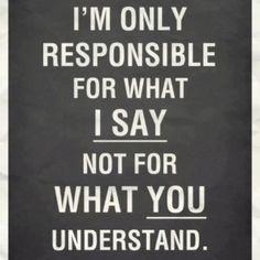 My responsibility