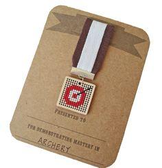 Archery achievement badge $15 by notsomodernmillie on Etsy