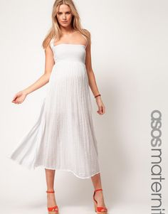 Maternity Cheesecloth Midi With Halter by ASOS