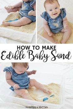 How to make edible baby sand. Edible and taste safe sensory activity for 1 year olds. indoor activities for kids. educational printable activities for toddlers. Infant Sensory Activities, Baby Sensory Play, Edible Sensory Play, Sensory Rooms, Sensory Bags, Educational Activities, Physical Activities, Toddler Fun, Toddler Learning