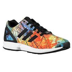 adidas Originals ZX Flux Black White Orange Camo Mens Running Shoes 9b688208e3f