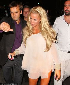 Katie Price wearing  Kate 3/4 Wig