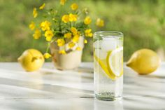 Water with ice and lemon by PawelBrzozowski  IFTTT 500px beverage drink flowers food fresh fruits glass grass green ice lemon light liquid natu
