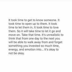 Just have to take it one day at a time...