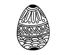 Dibujo de Huevo de Pascua con decorado estampado para Colorear