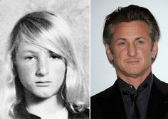 Sean Penn, then, quite blonde and girly looking, and now, the mature Sean Penn.