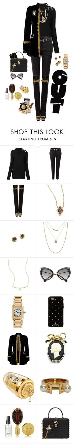 """""""My kind of style"""" by mbarbosa ❤ liked on Polyvore featuring Balmain, Gucci, Dolce&Gabbana, Anzie, Marc Jacobs, Lucky Brand, ZoÃ« Chicco, Miu Miu, Cartier and Kate Spade"""