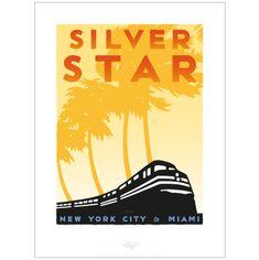 Amtrak Silver Star Poster | Michael Schwab Studio