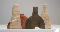 Love this creative grouping of baskets by Mary Giles/Duane Reed Gallery via Contemporary Basketry