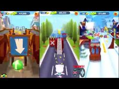 Talking Tom Gold Run Android Gameplay - Angela And Ginger Catch The RaCC...