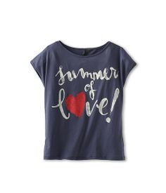 """United Colors of Benetton Kids Girls' Cropped """"Summer of Love"""" Tee (Little Kids/Big Kids)"""