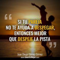 Hay personas que están para volar financieramente; pero su pareja es la piedra que impide que el globo se eleve #ModoHervir #Riqueza #Abundancia #México #Bolivia #Dinero #Motivación #Negocios #Emprendimiento #PNL #Emprendedor #InvertirMejor® #Felicidad #Frase #FraseDelDía