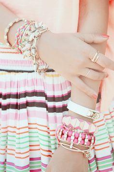 Pink, gold & white