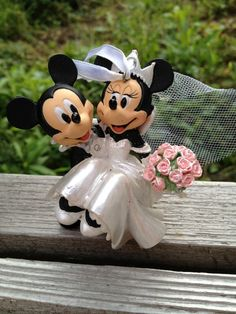 Mickey And Minnie Mouse Wedding Ornament By TheFlyingBlueMonkey 1495