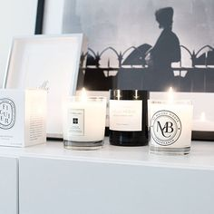 Growing candle collection #malenebirger #jomalone #byredo #scentedcandles…