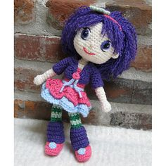 CROCHET PATTERN - Plum Pudding - A Strawberry Shortcake Doll