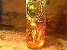 Wizard of Oz lighted wine bottle