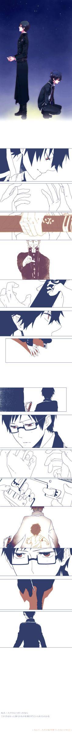 Tags: Anime, Demon, Ao no Exorcist, Okumura Rin, Okumura Yukio, Pixiv Id 474970, Fujimoto Shirou