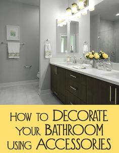 Most people want a well decorated home, however they are at a loss when it comes to decorating their bathroom.  Since a bathroom needs to be very functional, accessories must be chosen to be both functional as well as decorative.  Here are a few ideas for accessories for your bathroom.