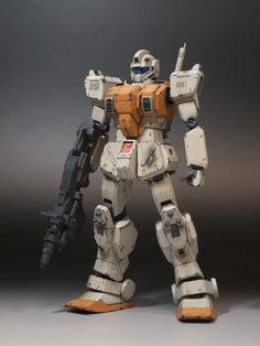 RGM-79G-03 Gundam Wing, Gundam Art, Custom Gundam, Gunpla Custom, Ground Type, Real Robots, Sci Fi Models, Sci Fi Armor, Mecha Anime