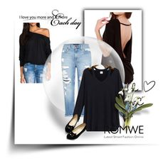 """""""ROMWE"""" by minasalkicm ❤ liked on Polyvore featuring мода и Genetic Denim"""