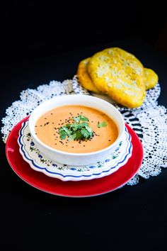 This masala butternut squash soup is a perfect health-in-a-bowl dish that carries all the delicious flavours of Indian spices, that is easy and light. Butternut Squash Soup, Thai Red Curry, Soups, Berries, Spices, Dishes, Ethnic Recipes, Health, Easy