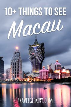 Best Macau things to do: Macau is more than just casinos! Check out all the attractions in Macau and best places to see. From checking out Macau's fortresses and temples to adventurous activities. Japan Destinations, Macau Travel, China Travel, China Trip, Travel Advice, Travel Guides, Travel Tips, Vietnam, Hanoi