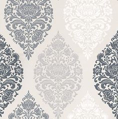 Prestigious Loriana Dove Black / Grey / White / Taupe Wallpaper main image