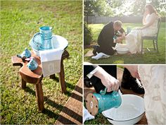 how beautiful would a foot washing be as part of the wedding ceremony. love the idea of starting a marriage as a servant of each other...