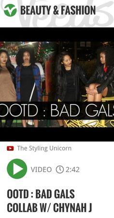 OOTD : BAD GALS COLLAB W/ CHYNAH J | http://veeds.com/i/DvziiO8YsoTjqTvn/beauty/