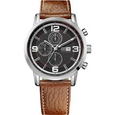 Tommy Hilfiger - Men\'s Black and Brown Gabe Chronograph Watch - 1710336 - Online Price: £140.00