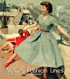 1950s-fashion-lines - the correct one to choose for your figure
