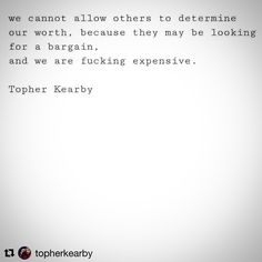 We cannot allow others to determine our worth.