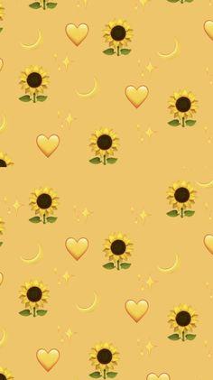 Pin on sunflower wallpaper Wallpaper Pastel, Iphone Wallpaper Yellow, Emoji Wallpaper Iphone, Cute Emoji Wallpaper, Disney Phone Wallpaper, Sunflower Wallpaper, Iphone Background Wallpaper, Aesthetic Pastel Wallpaper, Cute Cartoon Wallpapers