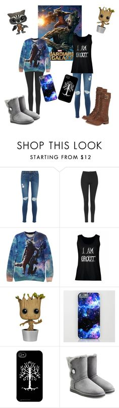 """""""Rocket & Groot"""" by lydiaviolet ❤ liked on Polyvore featuring Current/Elliott, Topshop, CO, UGG Australia, Timberland, women's clothing, women, female, woman and misses"""