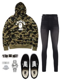 """Bez tytułu #805"" by babygic ❤ liked on Polyvore featuring A BATHING APE, Vans, True Religion, B-Low the Belt, Rolex and Mark Broumand"