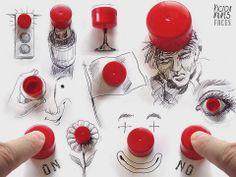 Ilustrações divertidas de Victor Nunes by Upost