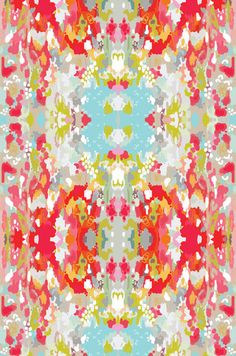 fabric by the yard: watercolor ikat on heavy cotton twill - absolutely beautiful!