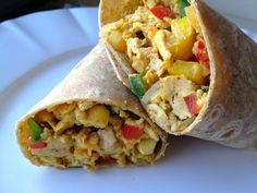 The Dude Diet Breakfast Burrito. #dudediet #breakfast
