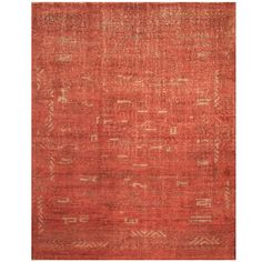 Handmade Herat Oriental Indo Hand-knotted Moroccan Wool Area Rug (7'6 x 9'8) (Handmade Moroccan Area Rug), Red, Size 7'6 x 9'6