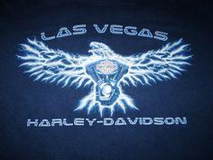 Harley-Davidson Blue T-Shirt XL Las Vegas, Nevada