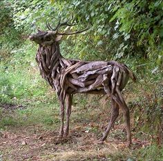 Recycled Driftwood Animal Sculptures