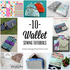 10 10 Wallet Sewing Tutorials | She's Got the Notion