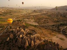 """Göreme National Park and the Rock Sites of Cappadocia is a volcanic landscape created entirely from erosion. This includes pinnacles nicknamed """"fairy chimneys"""", which can be seen across this region of Turkey. Meanwhile, the Cappadocia Valley is home to thousand-year-old cave dwellings you can still visit today."""