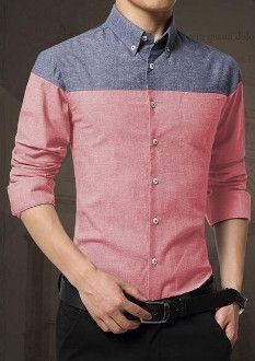 Dress shirts colored collar