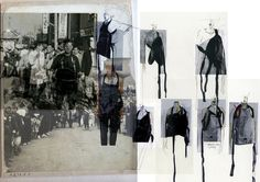 Fashion Sketchbook - fashion design research and sketches - creative process; fashion portfolio layout // Ruri Watanabe